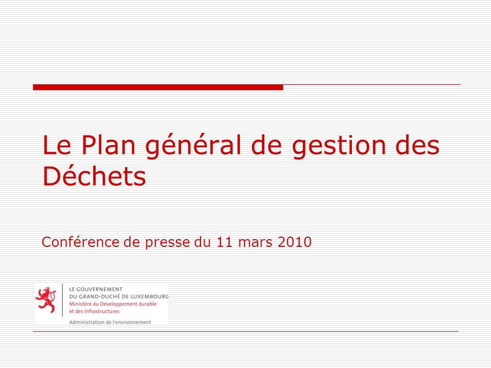 Le Plan général de gestion des Déchets