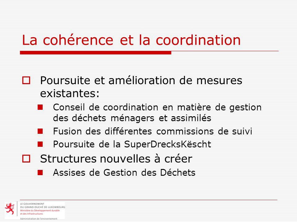 La cohérence et la coordination