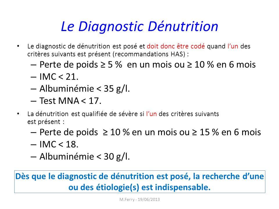 Le Diagnostic Dénutrition