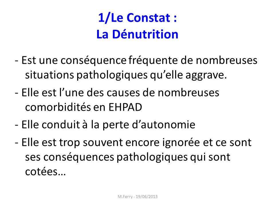 1/Le Constat : La Dénutrition
