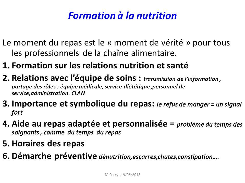 Formation à la nutrition