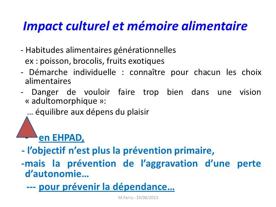 Impact culturel et mémoire alimentaire