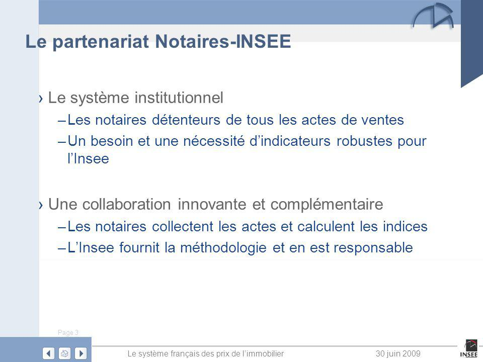 Le partenariat Notaires-INSEE