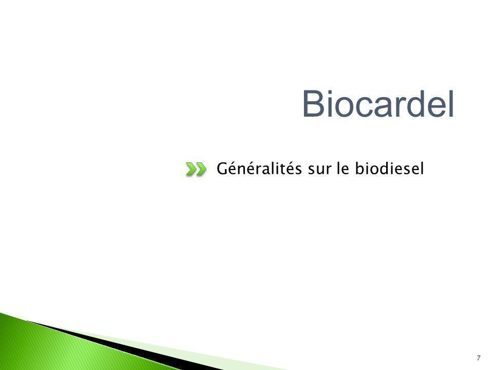 Biocardel Généralités sur le biodiesel