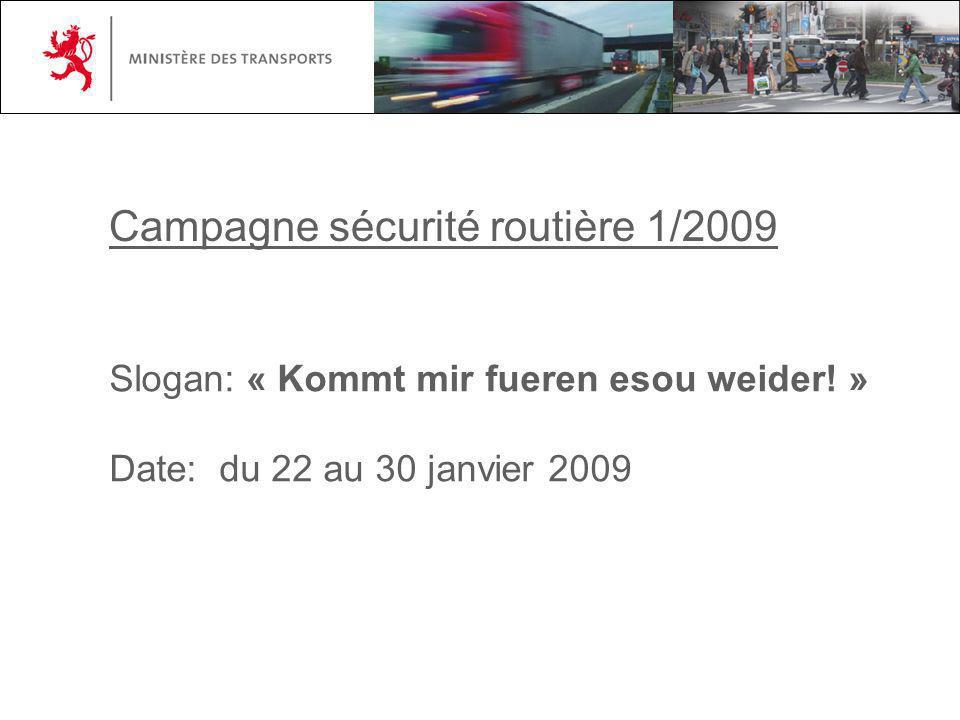 Campagne sécurité routière 1/2009