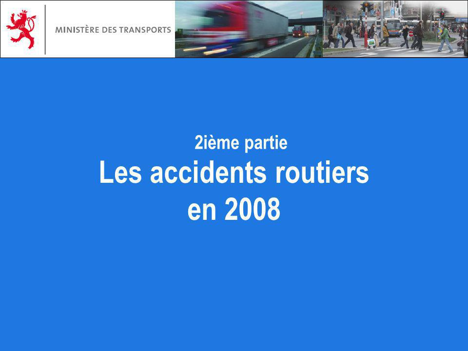 Les accidents routiers en 2008