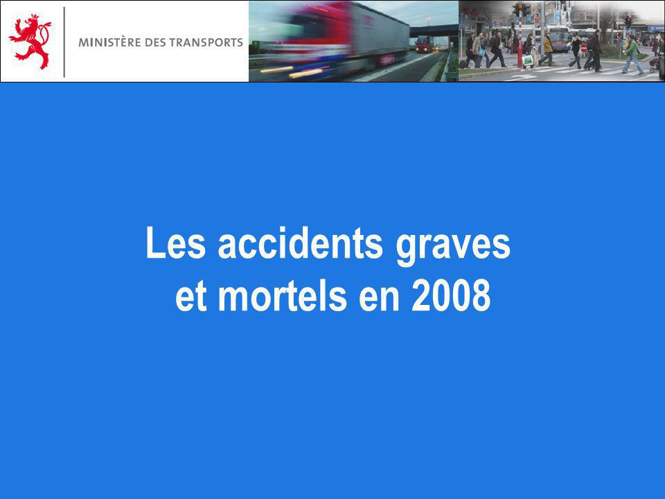 Les accidents graves et mortels en 2008