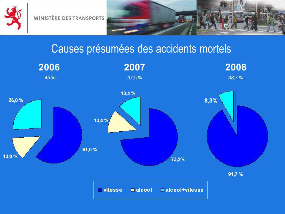Causes présumées des accidents mortels