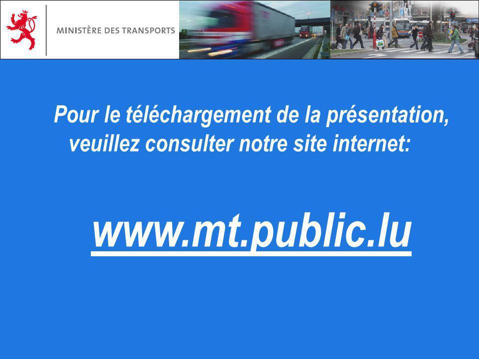 Pour le téléchargement de la présentation, veuillez consulter notre site internet: