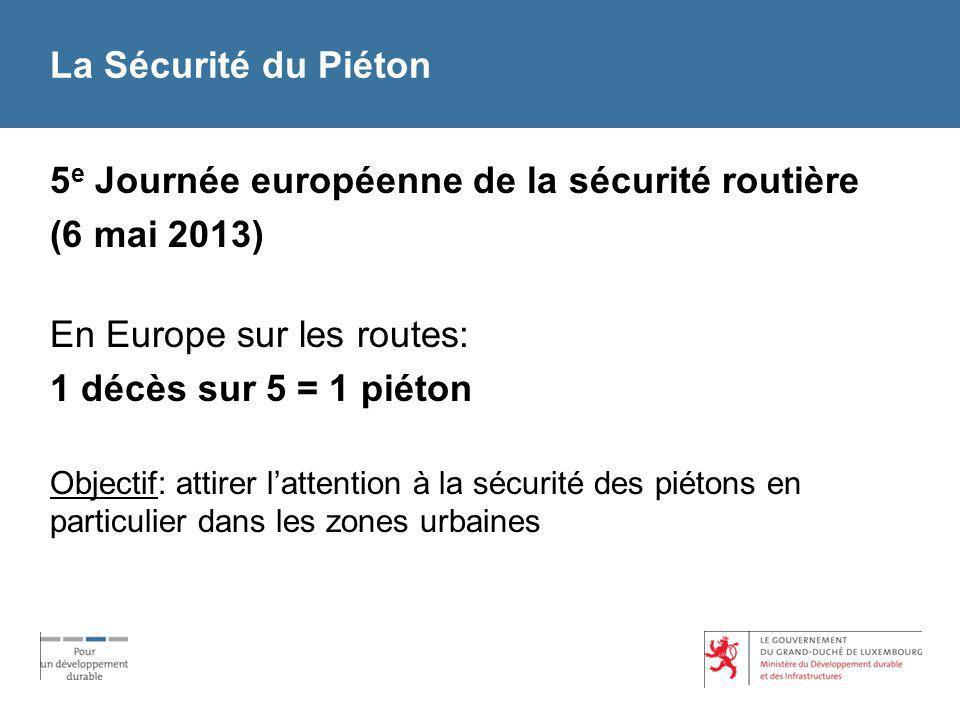 5e Journée européenne de la sécurité routière (6 mai 2013)