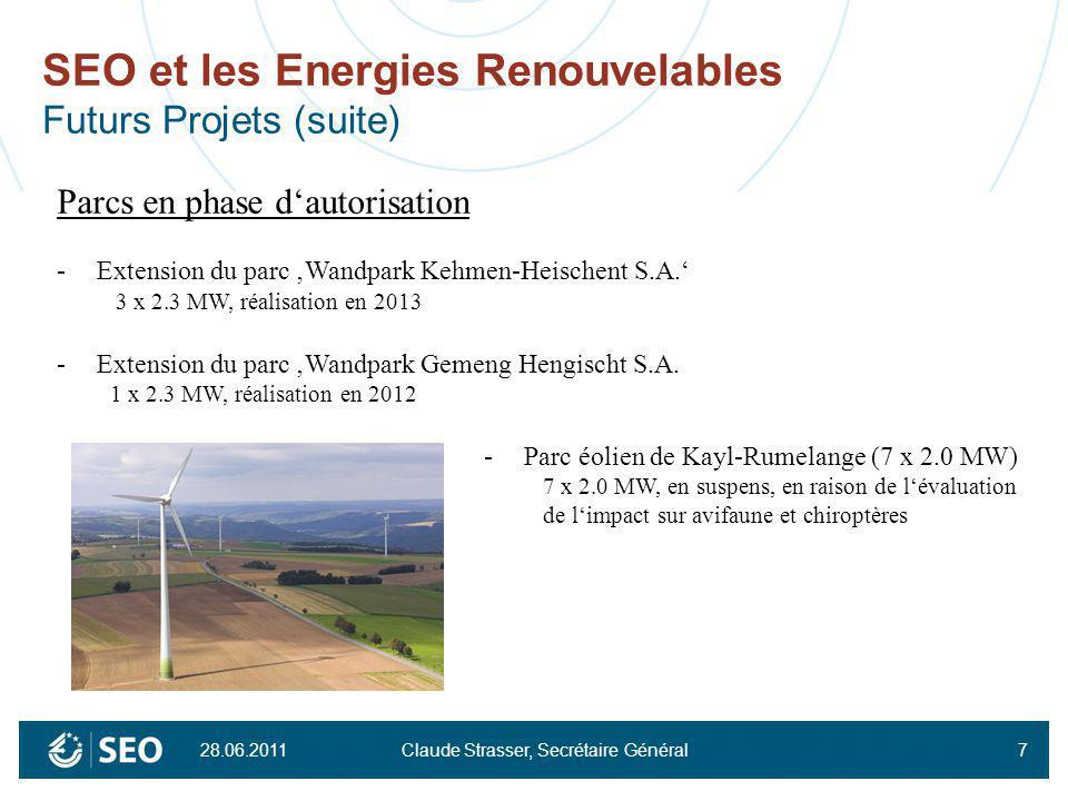 SEO et les Energies Renouvelables Futurs Projets (suite)