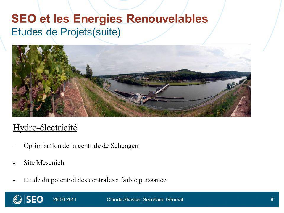 SEO et les Energies Renouvelables Etudes de Projets(suite)