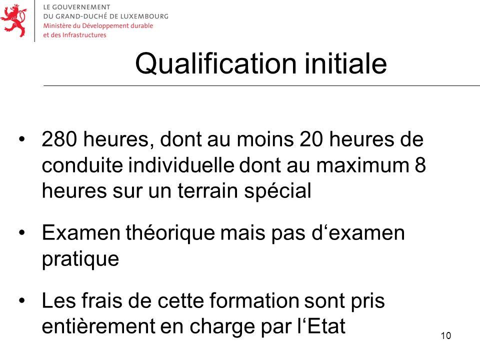 Qualification initiale