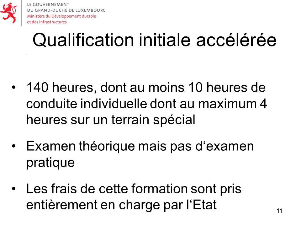 Qualification initiale accélérée