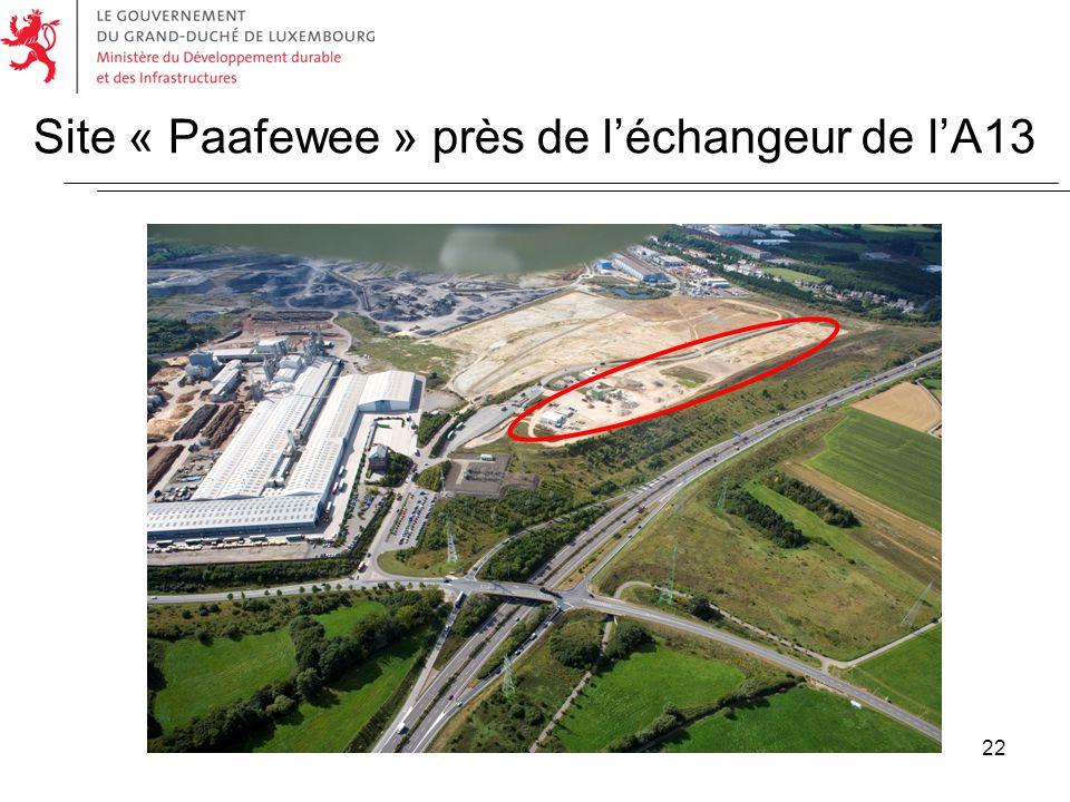 Site « Paafewee » près de l'échangeur de l'A13
