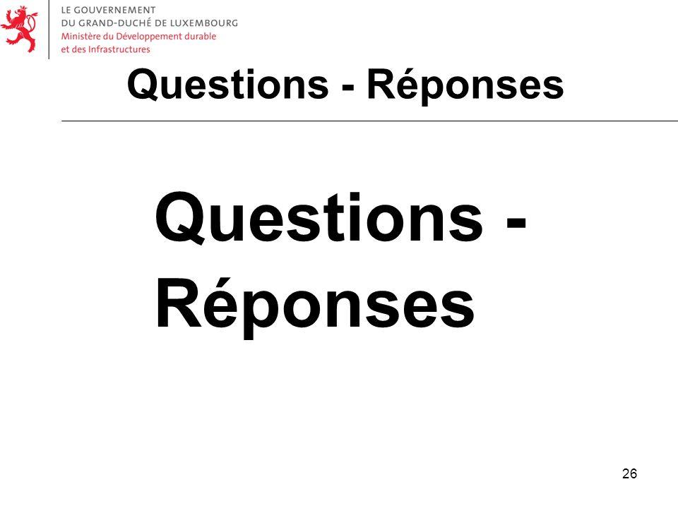 Questions - Réponses Questions - Réponses