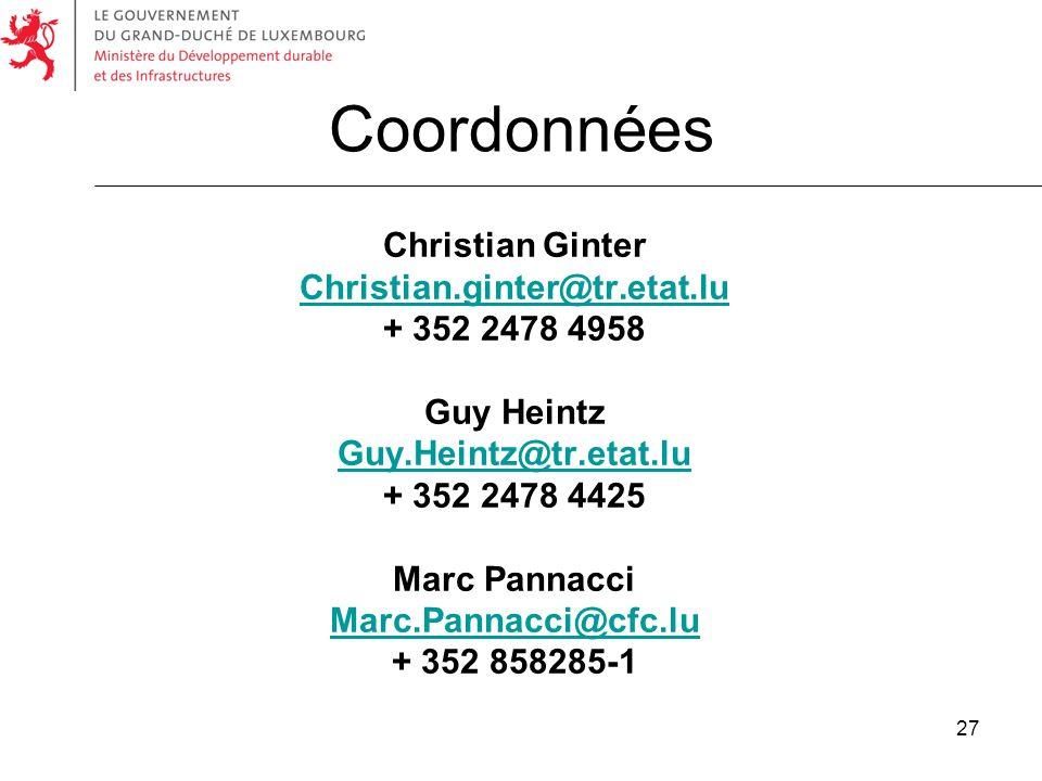 Coordonnées Christian Ginter Christian.ginter@tr.etat.lu
