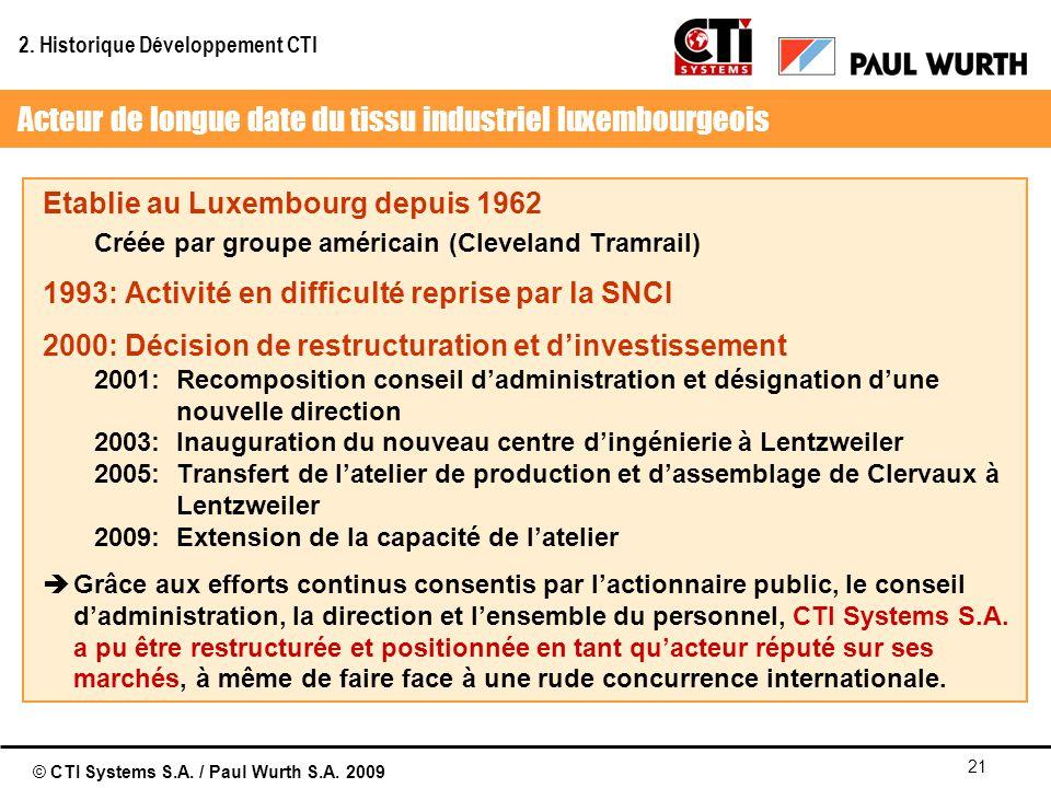 Acteur de longue date du tissu industriel luxembourgeois