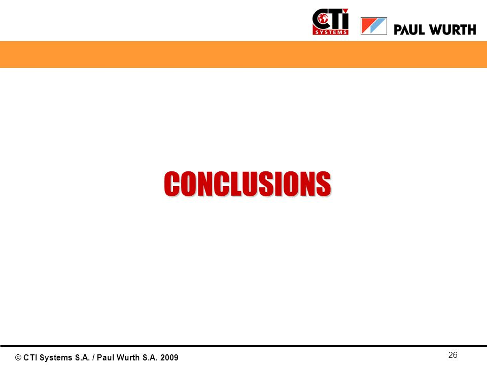 01/04/2017 CONCLUSIONS © Paul Wurth