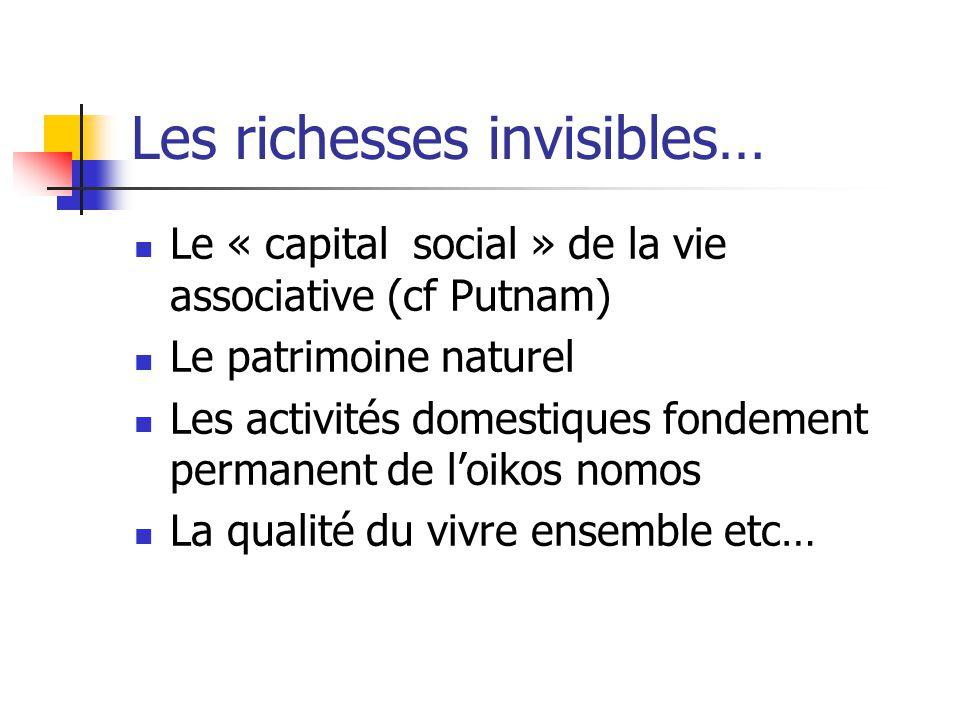 Les richesses invisibles…