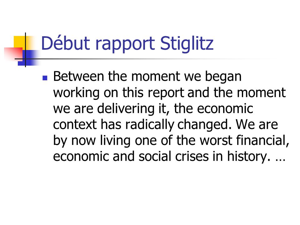 Début rapport Stiglitz