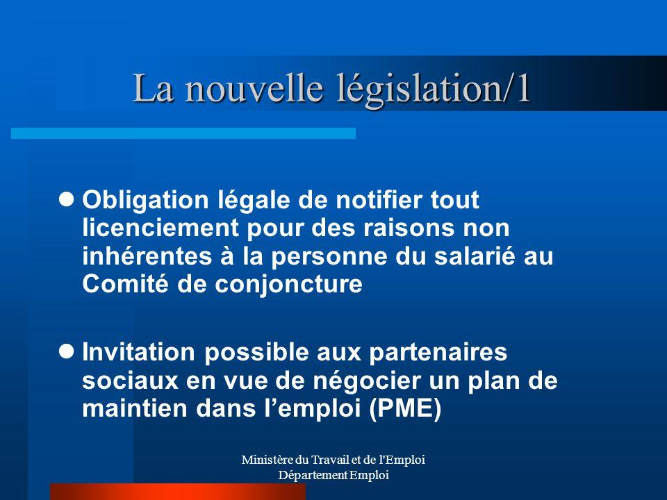 La nouvelle législation/1
