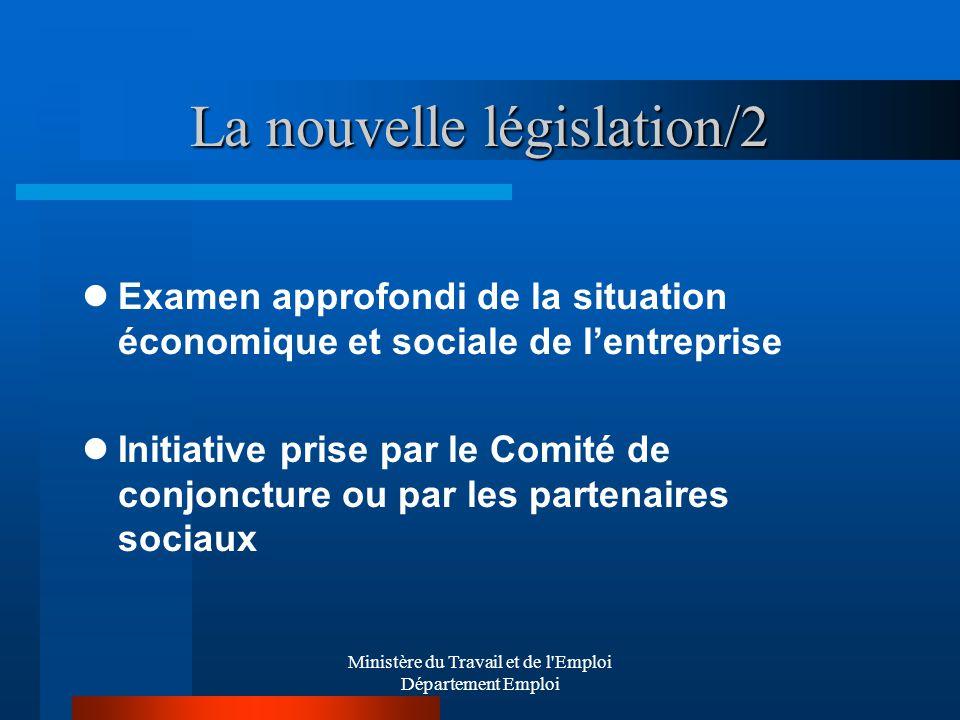 La nouvelle législation/2