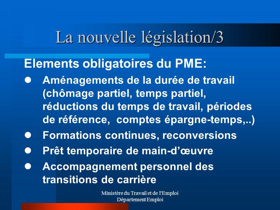 La nouvelle législation/3