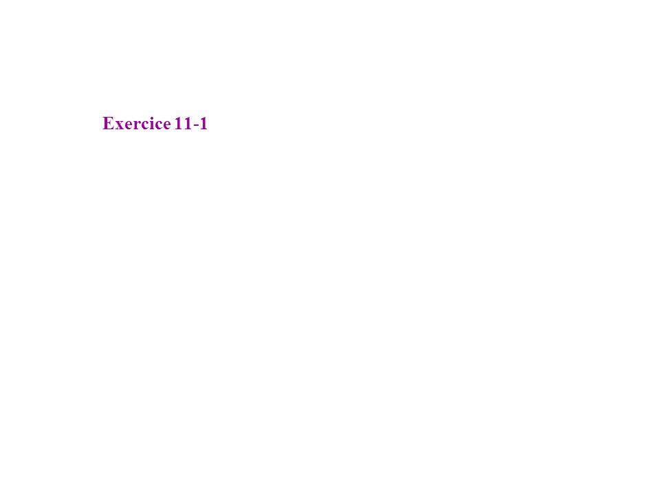 Exercice 11-1