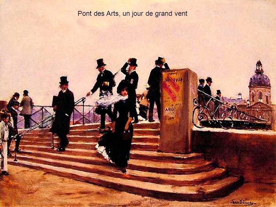 Pont des Arts, un jour de grand vent