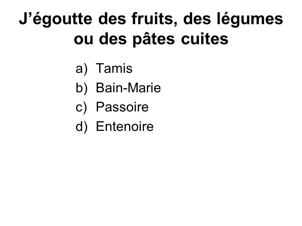 J'égoutte des fruits, des légumes ou des pâtes cuites
