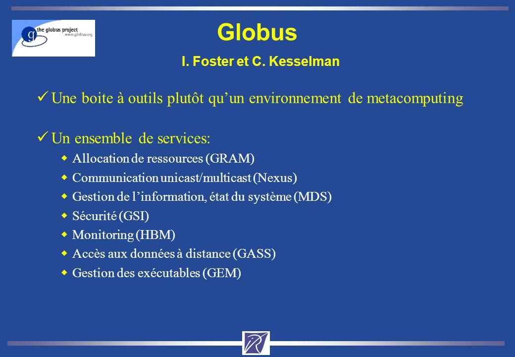 Globus I. Foster et C. Kesselman