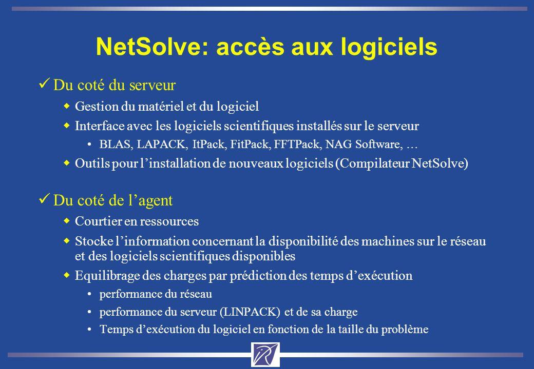 NetSolve: accès aux logiciels