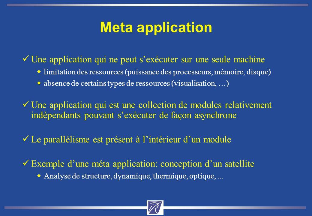 Meta application Une application qui ne peut s'exécuter sur une seule machine.
