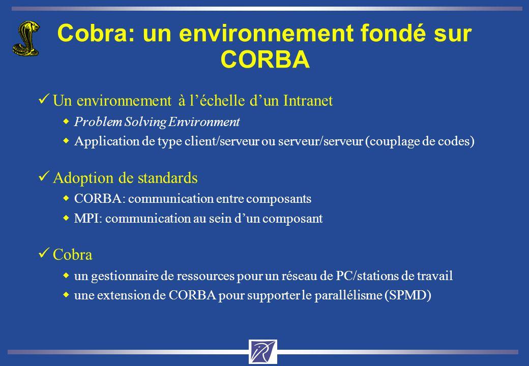 Cobra: un environnement fondé sur CORBA