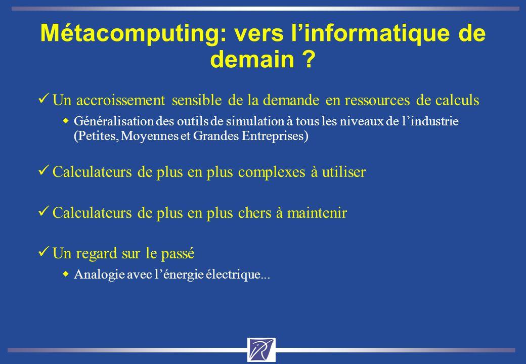 Métacomputing: vers l'informatique de demain