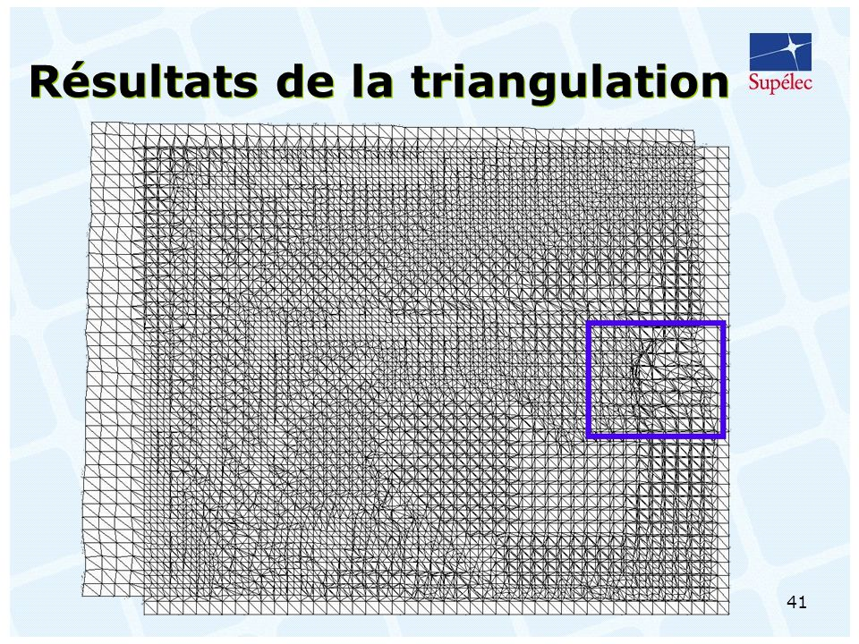 Résultats de la triangulation