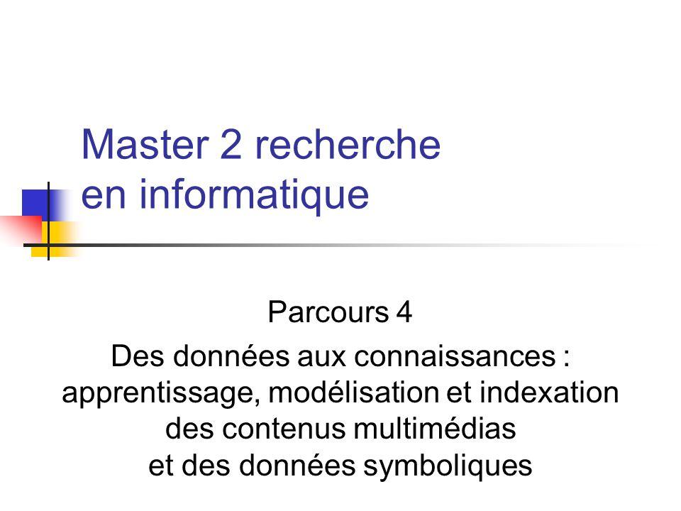 Master 2 recherche en informatique