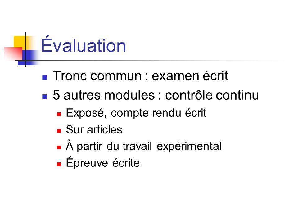 Évaluation Tronc commun : examen écrit