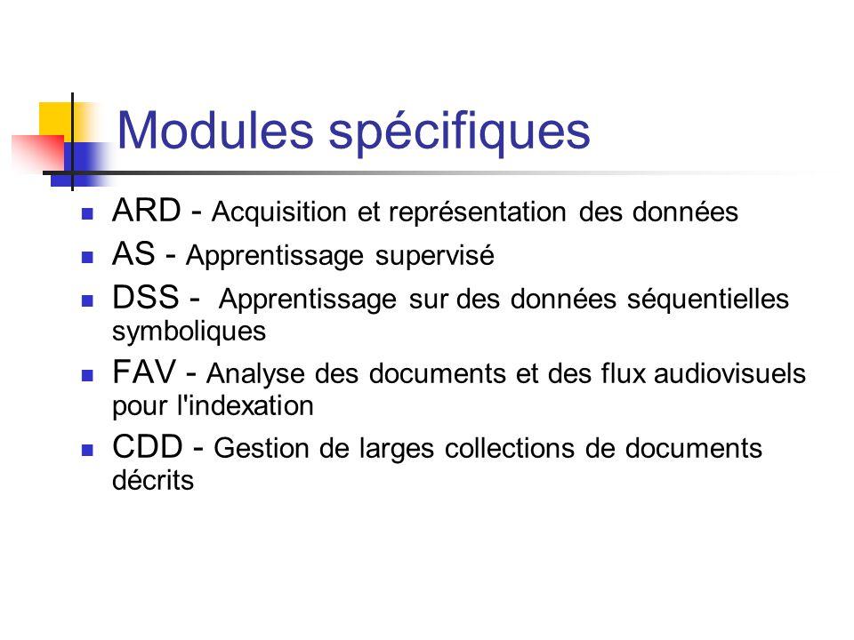 Modules spécifiques ARD - Acquisition et représentation des données