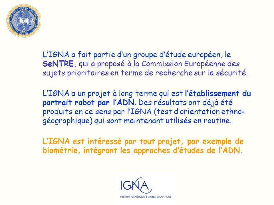 L'IGNA a fait partie d'un groupe d'étude européen, le SeNTRE, qui a proposé à la Commission Européenne des sujets prioritaires en terme de recherche sur la sécurité.