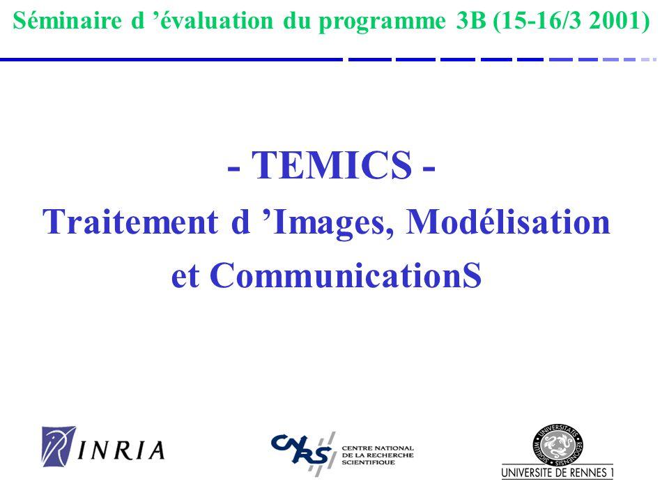 - TEMICS - Traitement d 'Images, Modélisation et CommunicationS
