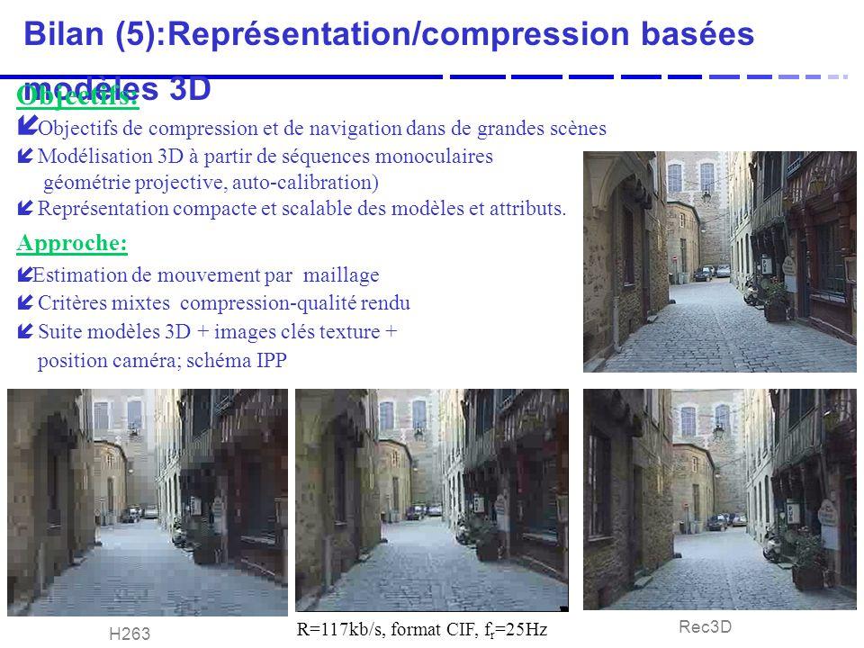 Bilan (5):Représentation/compression basées modèles 3D
