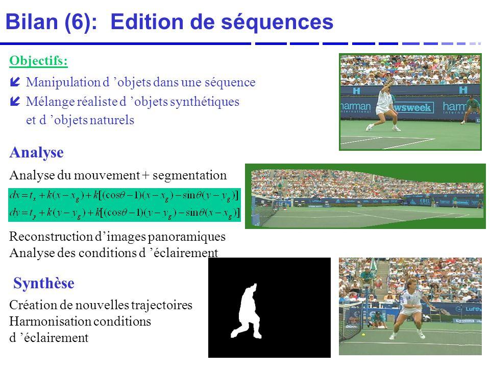 Bilan (6): Edition de séquences