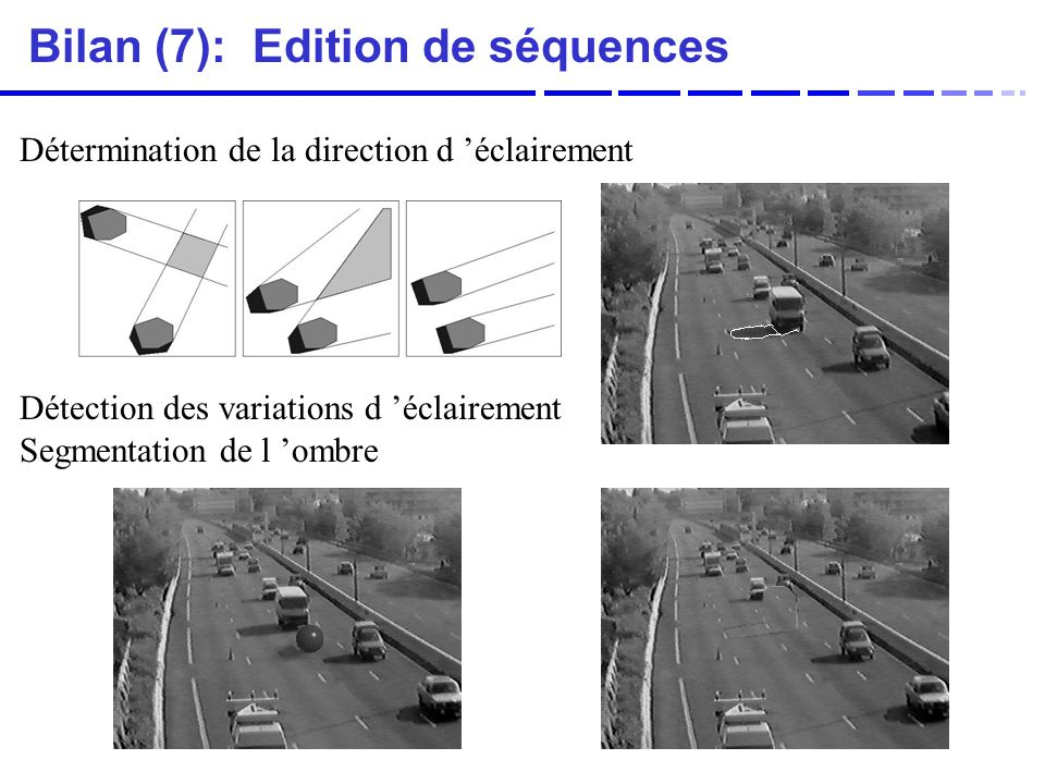 Bilan (7): Edition de séquences