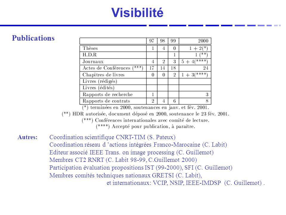 Visibilité Publications