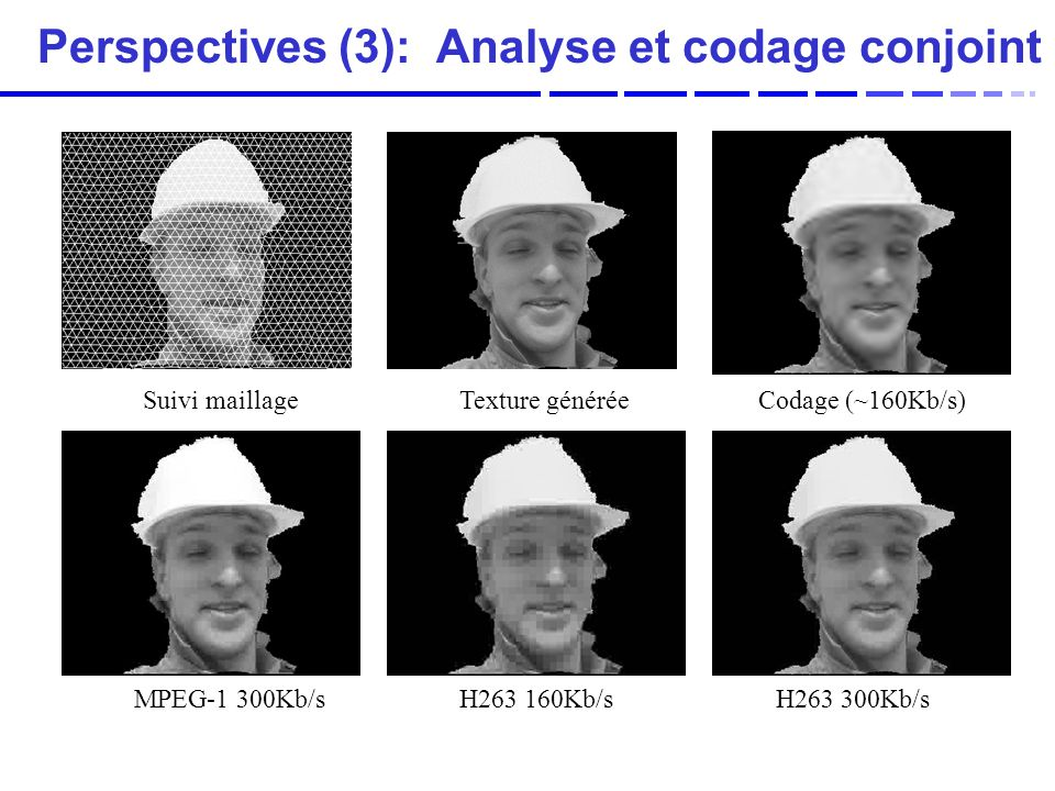 Perspectives (3): Analyse et codage conjoint