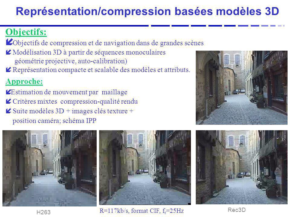 Représentation/compression basées modèles 3D