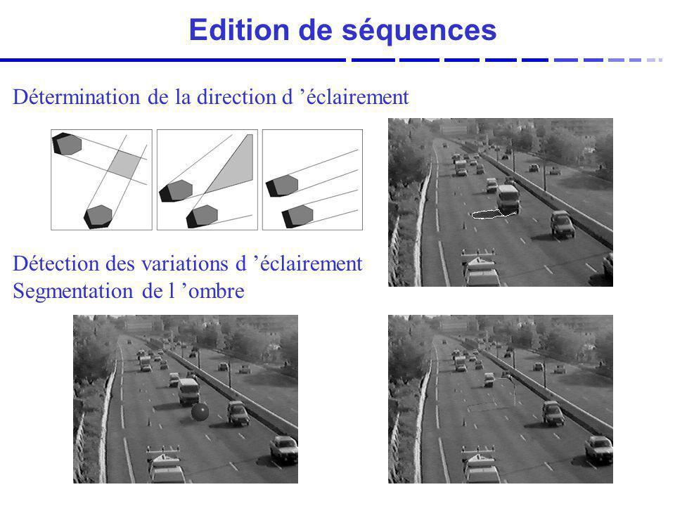 Edition de séquences Détermination de la direction d 'éclairement