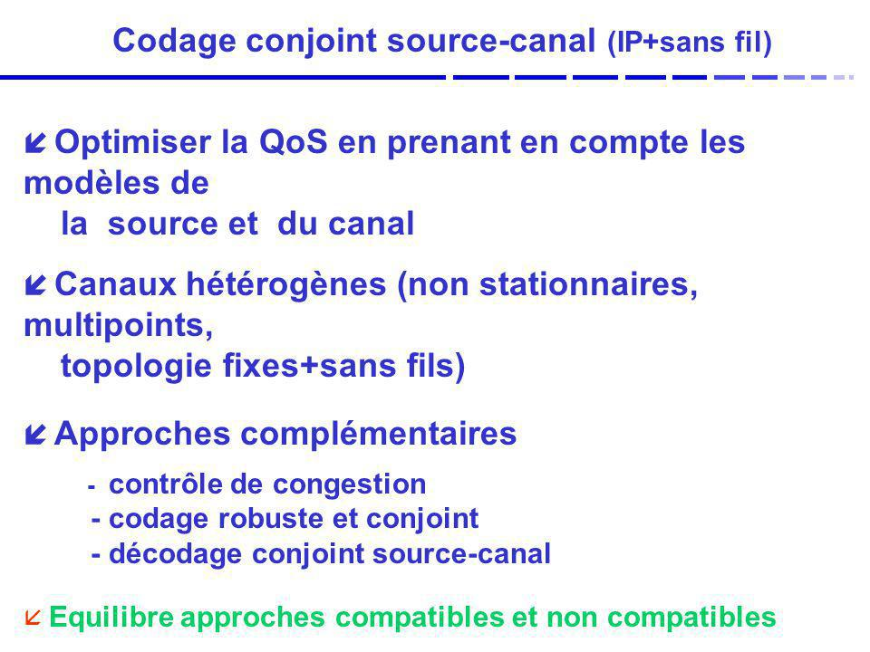 Codage conjoint source-canal (IP+sans fil)